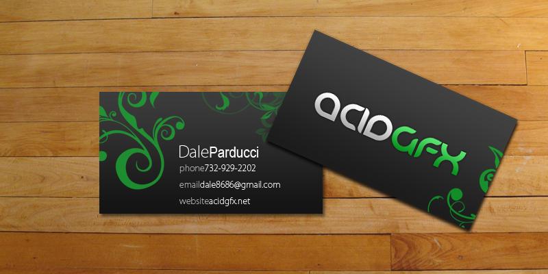acidGFX business cards by AC-1D