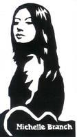Scratchboard art of Michelle.