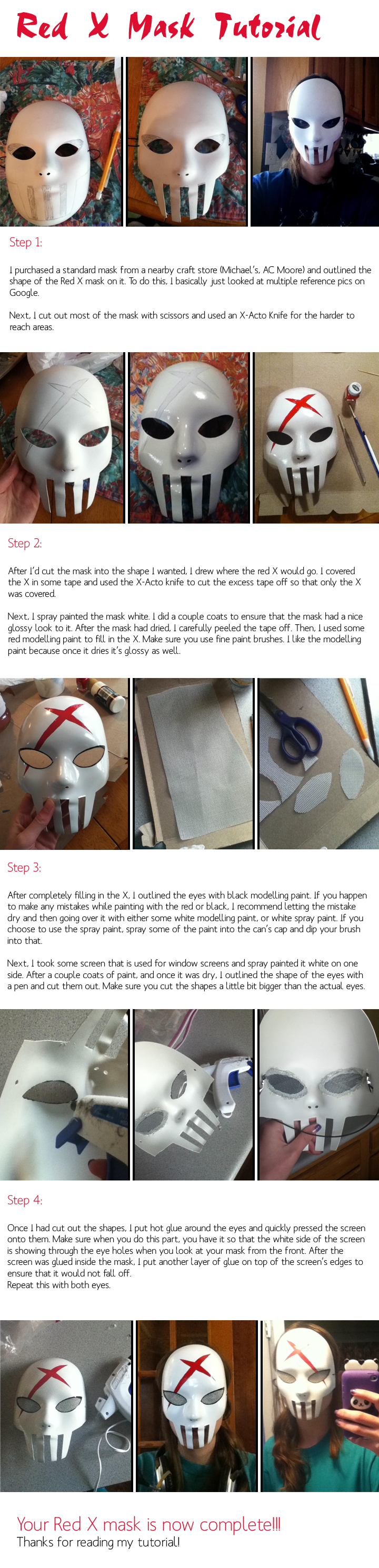 Red X Mask Tutorial by SadieAlucard