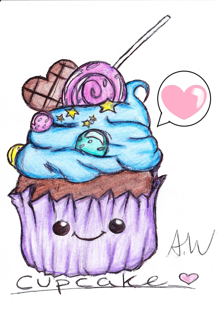 Cute Anime Cupcakes Drawings | www.imgkid.com - The Image ...