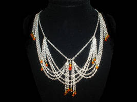 Fire Drip Crystal Necklace