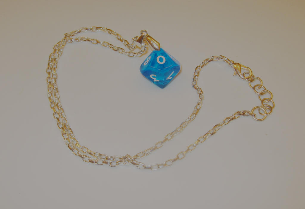 Dice Necklace (D10) by Ajalee-Jewelry