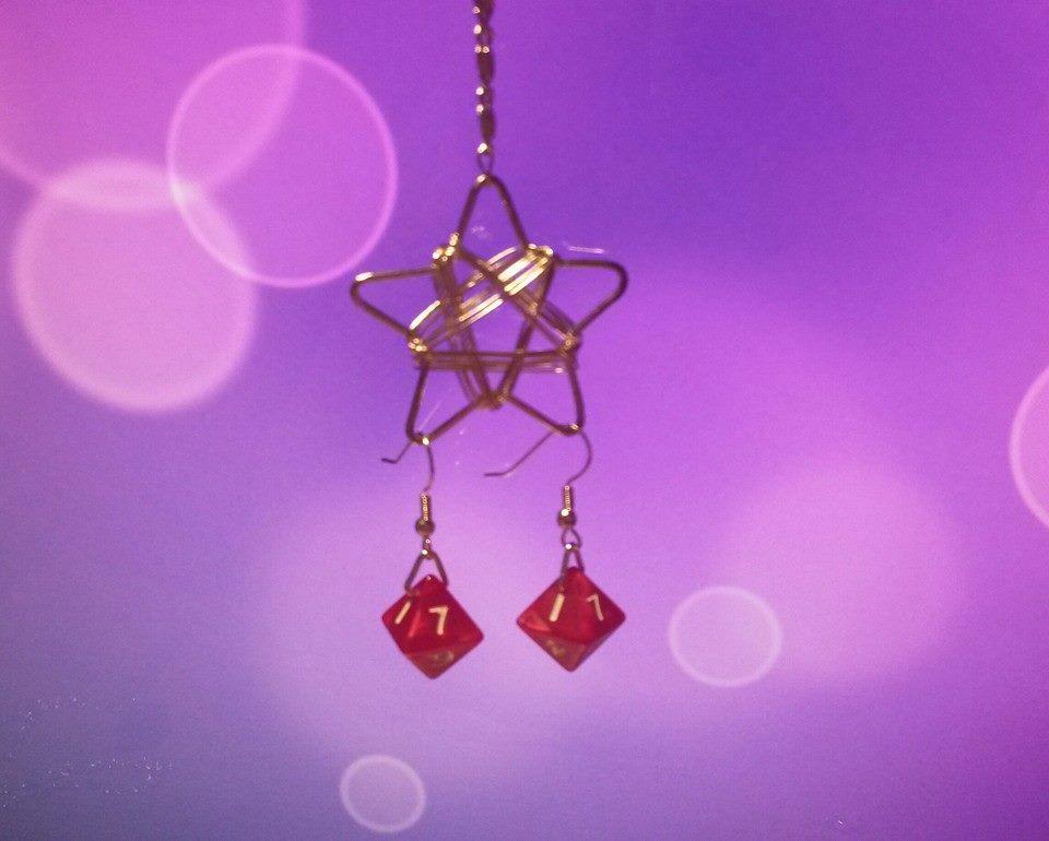 Dice Earrings 1 by Ajalee-Jewelry