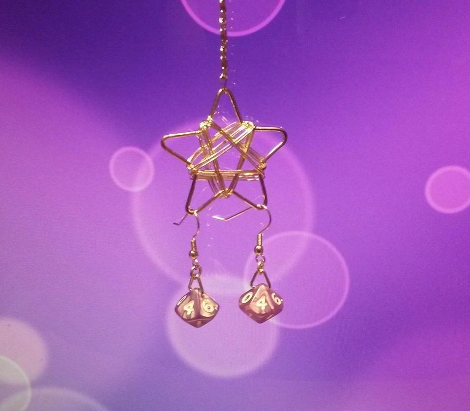 Dice Earrings 2 by Ajalee-Jewelry
