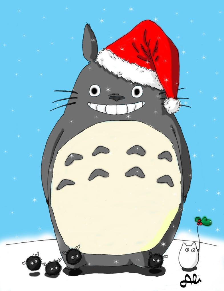 Totoro's xmas by 00BlackDahlia00