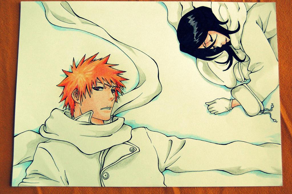 Ichigo and Rukia by lettertoS