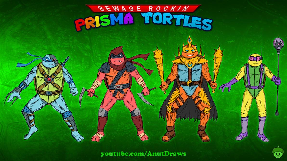 Sewage Rockin Prisma Tortles by AnutDraws