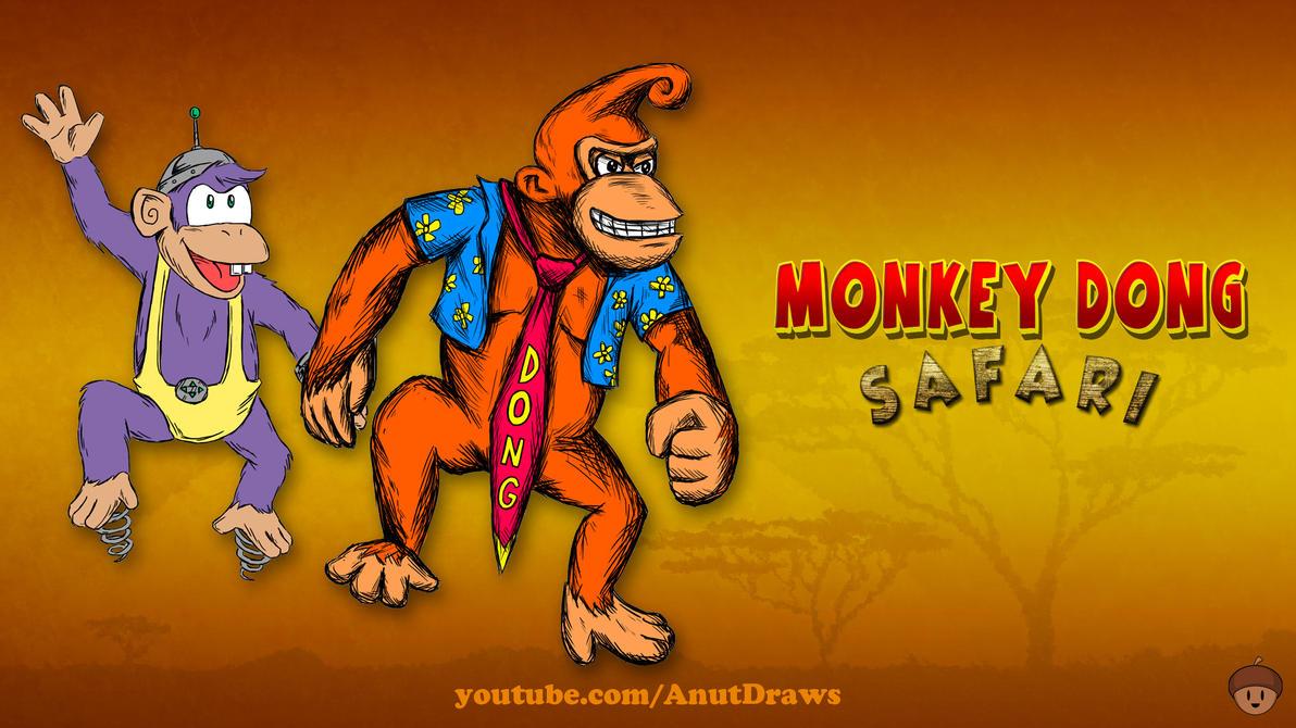 Monkey Dong Safari by AnutDraws
