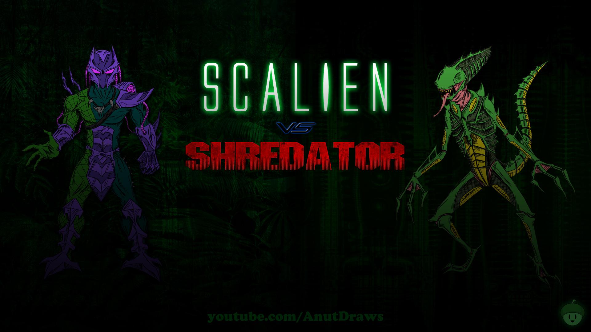 Scalien Vs. Shredator by AnutDraws