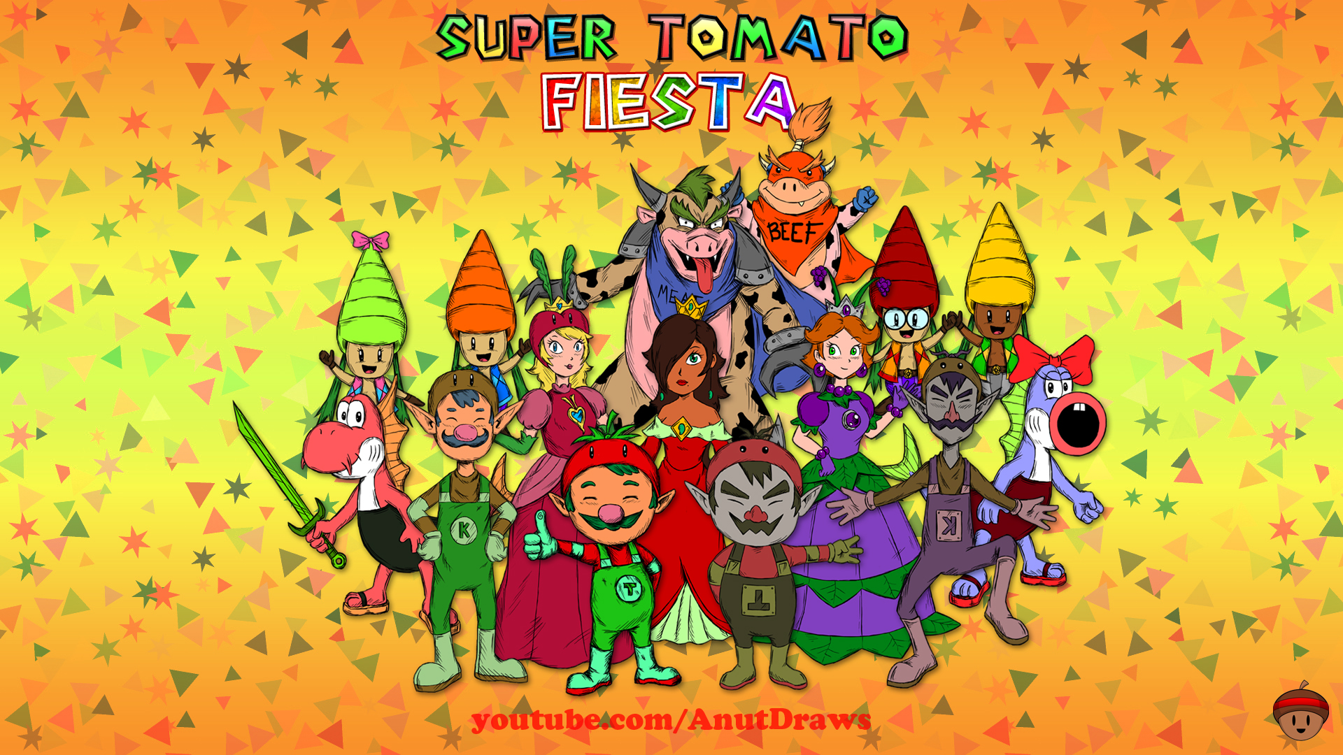 Super Tomato Fiesta by AnutDraws