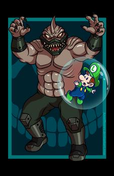 King Shark vs. Baby Luigi