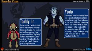 CHARACTER BIOS: Taddy Jr. / Yodo by AnutDraws