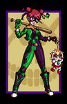 Harley Quinn vs. Baby Peach VARIANT by AnutDraws