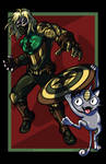 Winter Soldier vs. Meowth VARIANT by AnutDraws
