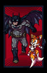 Batman vs. Tails by AnutDraws