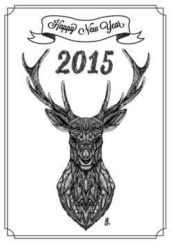 Happy New Year 2015 - Card