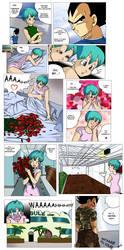 Vegeta and Bulma - S.Valentine by pallottili