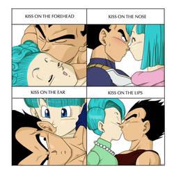 Kissx4 meme - Vegeta and Bulma by pallottili
