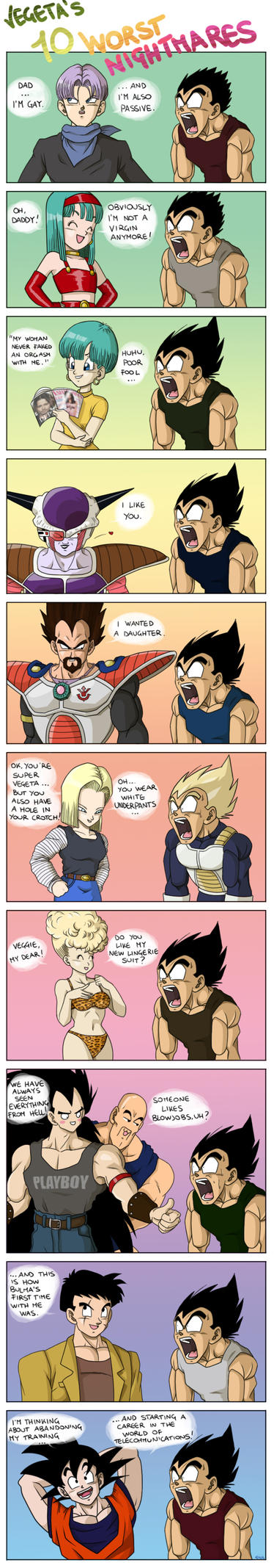 Vegeta's 10 worst nightmares by pallottili