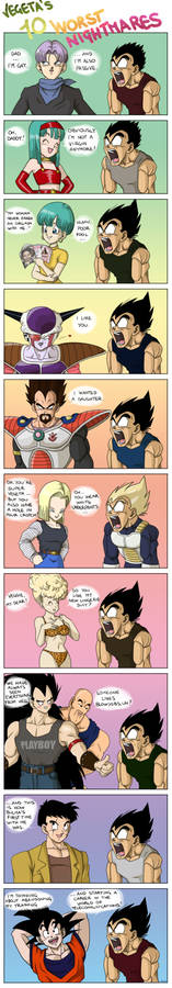 Vegeta's 10 worst nightmares