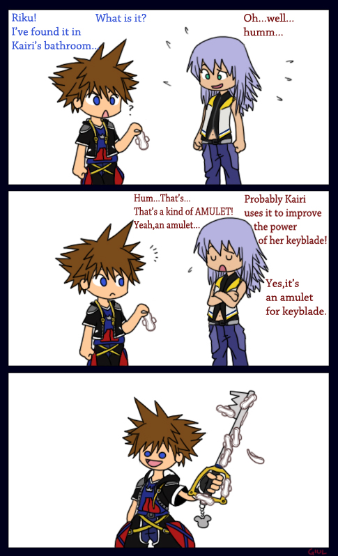 An amulet for keyblade by pallottili