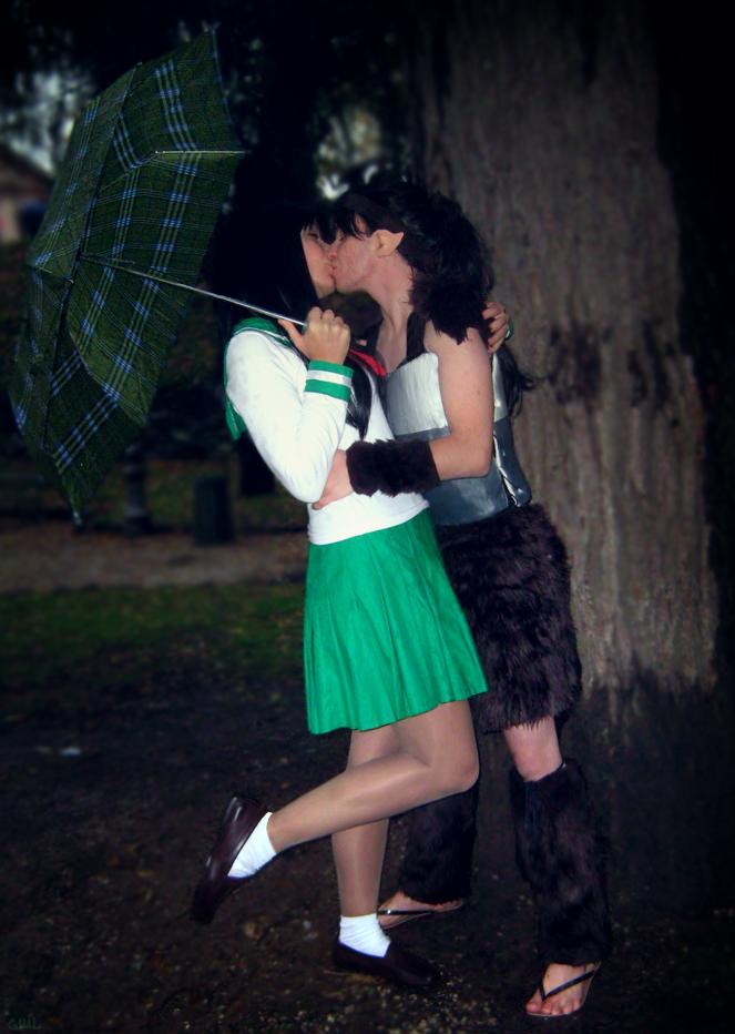 Kagome and Koga - kiss by pallottili on DeviantArt