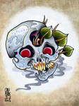 triclop skull tattoo flash
