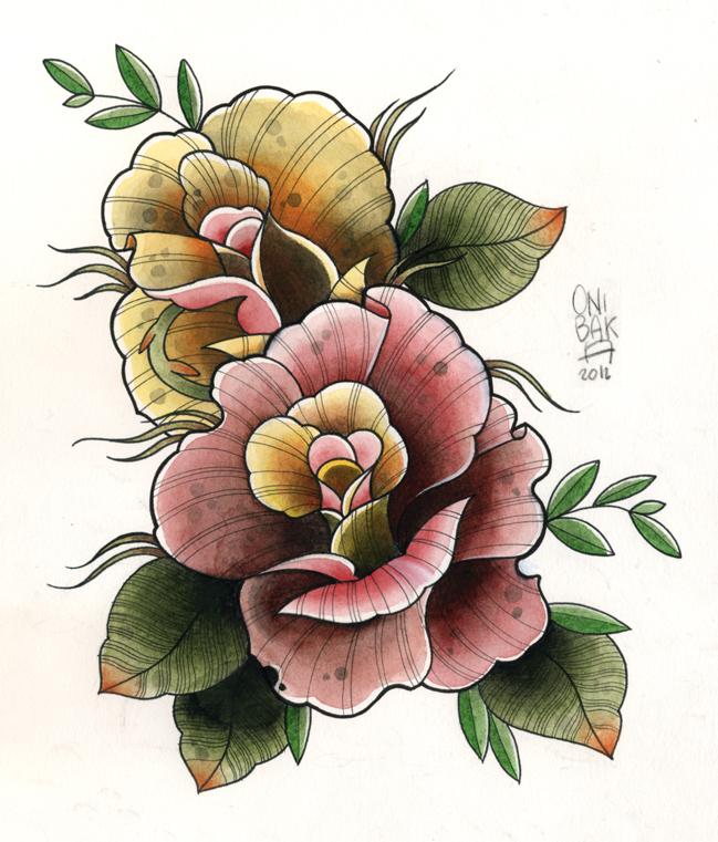 Roses by OniBaka