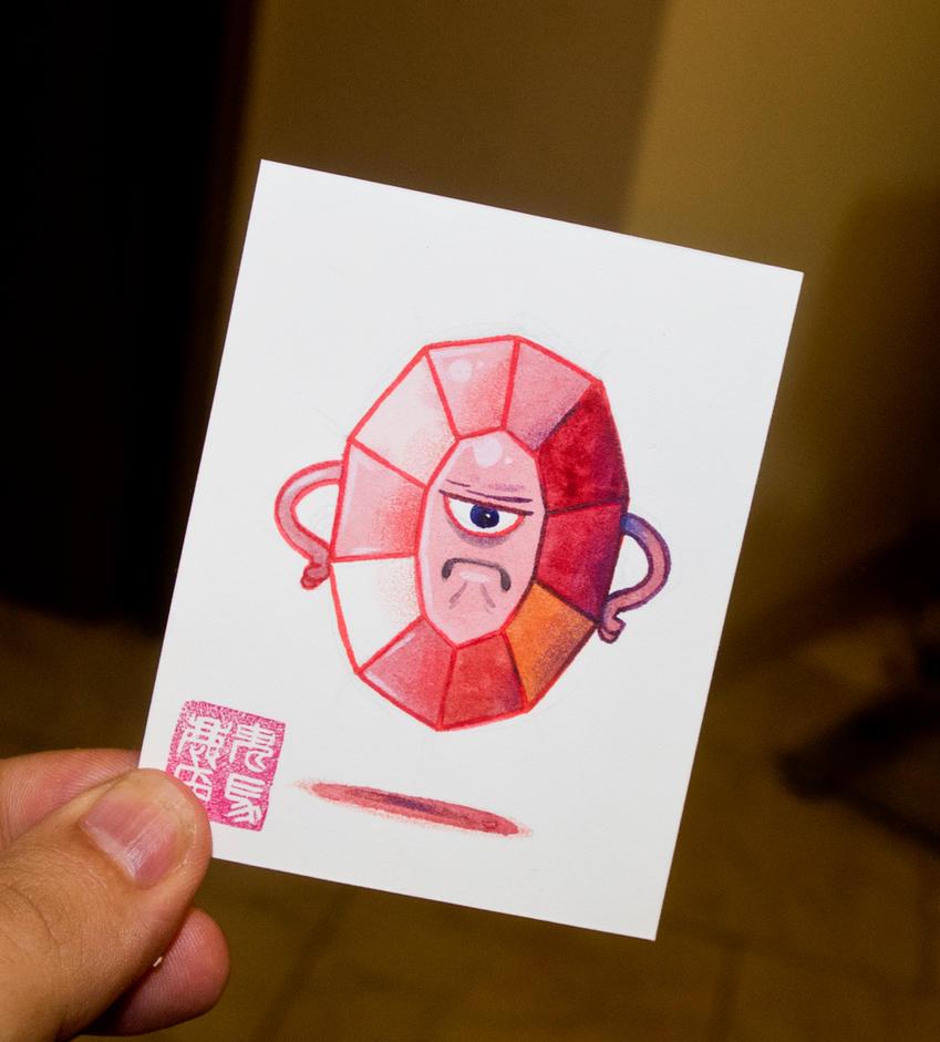 Living Gemstone N.1 - Ruby Rage by OniBaka