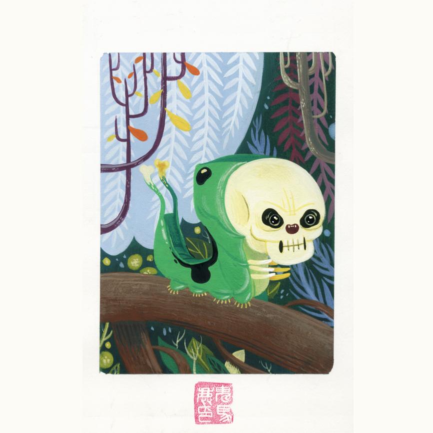 Skull caterpillar by OniBaka
