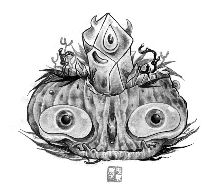Living pumpkin symbiosis by OniBaka