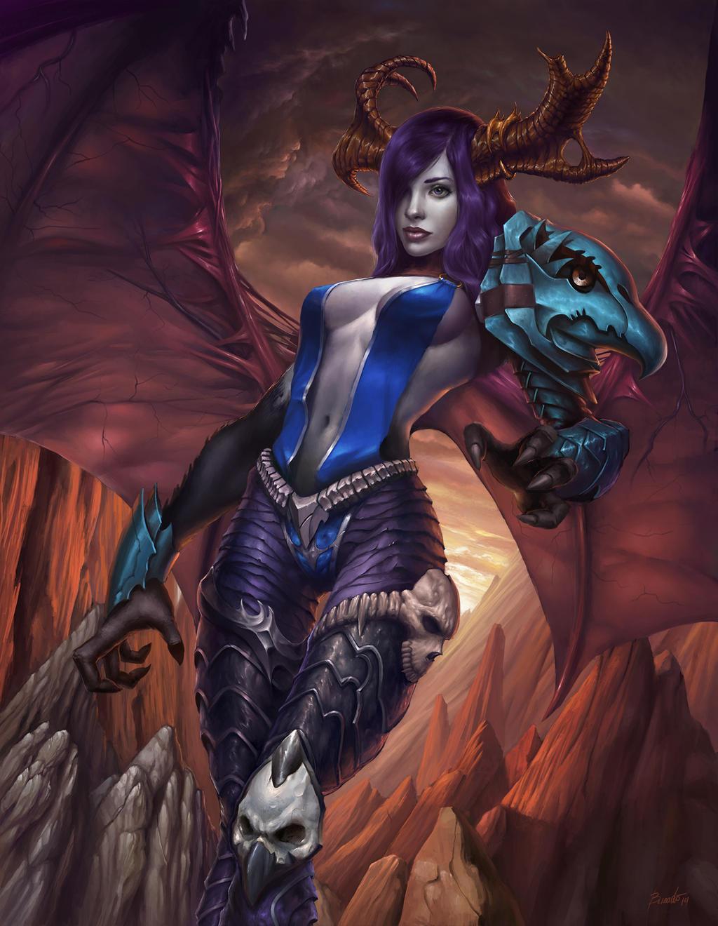 Demonic harpy by Nutfullin