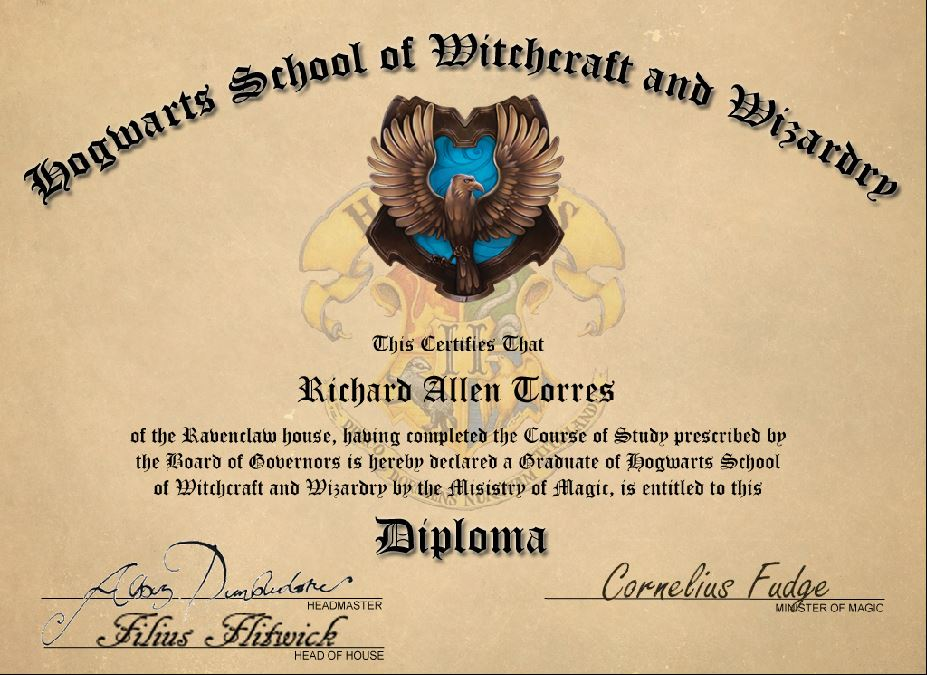 Hogwarts diploma by ratorr2 on deviantart for Hogwarts certificate
