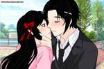 Pucca and Garu-Garu's kiss