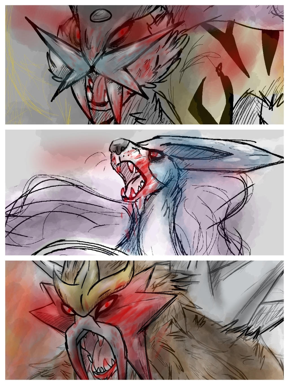 The legendary trio by BlueWolfehhh