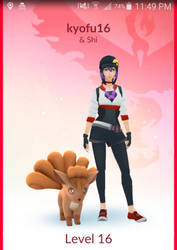 Me and my buddy in Pokmon GO.