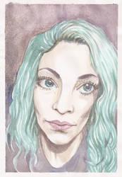 Watercolor selfie 2016