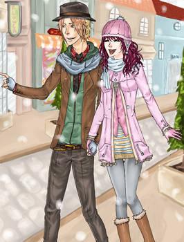 It's Snowing - Winter Couple Contest