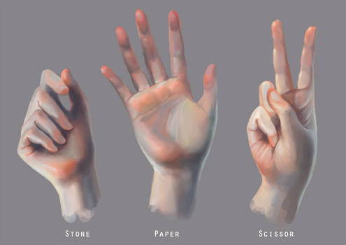 Ref: stone paper scissor Hands
