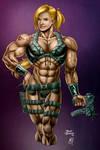 Muscle Badass Girl  color
