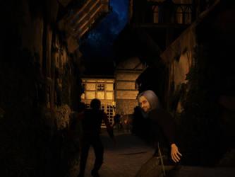 Dark Alley by Joel-Bisaillon