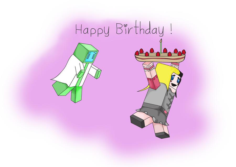 Minecraft Birthday Card Minecraft birthday card for my: imgarcade.com/1/minecraft-birthday-card