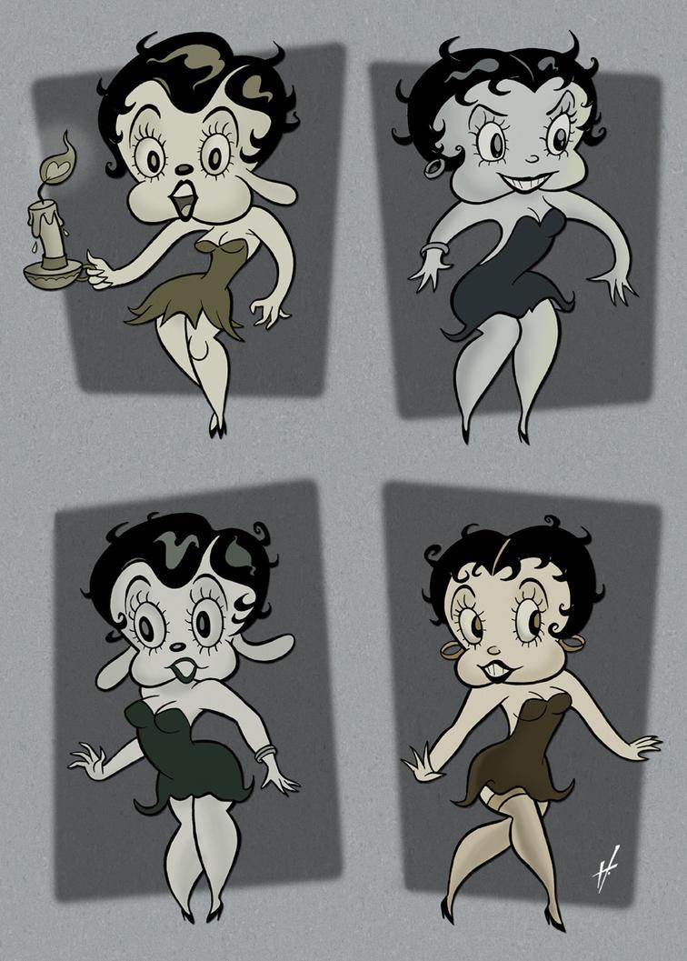 Betty Boop variations by HammersonHoek