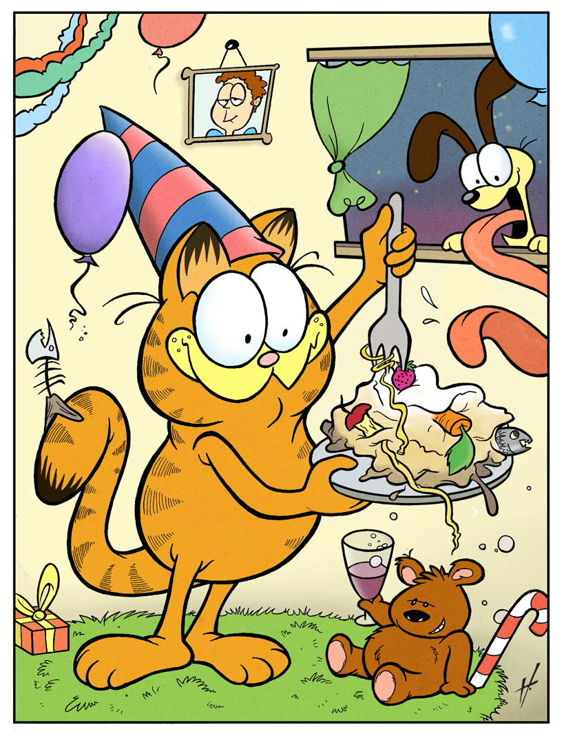 Garfield and friends by HammersonHoek