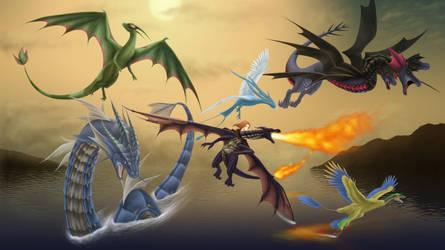 My Pokemon Team by Phantom-Akiko