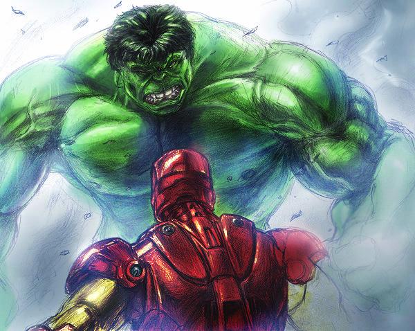 She hulk and ironman