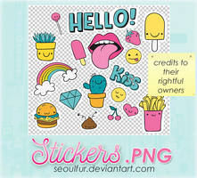 Png Pack 02 // Stickers by seoulfur