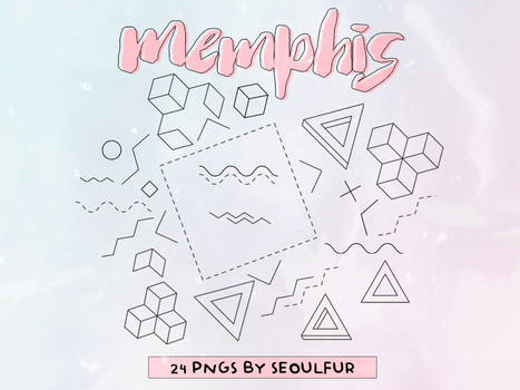 Memphis Png Pack #2