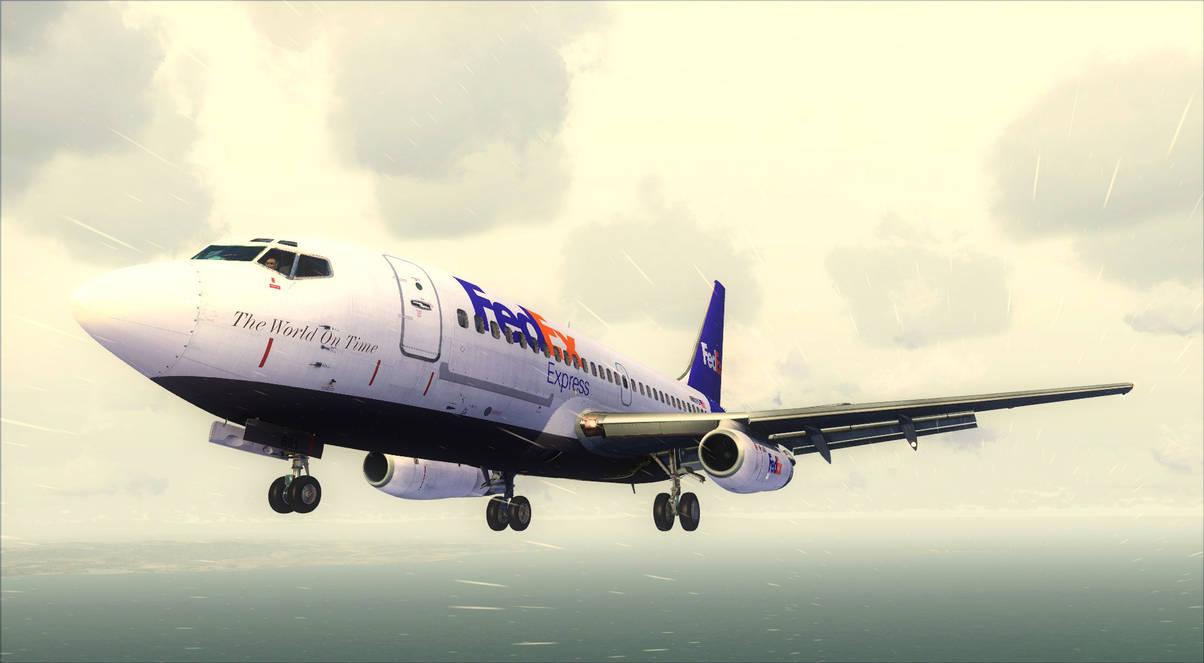 Boeing 737-200 FedEx (2) - FSX by DeLorean-Gamer on DeviantArt