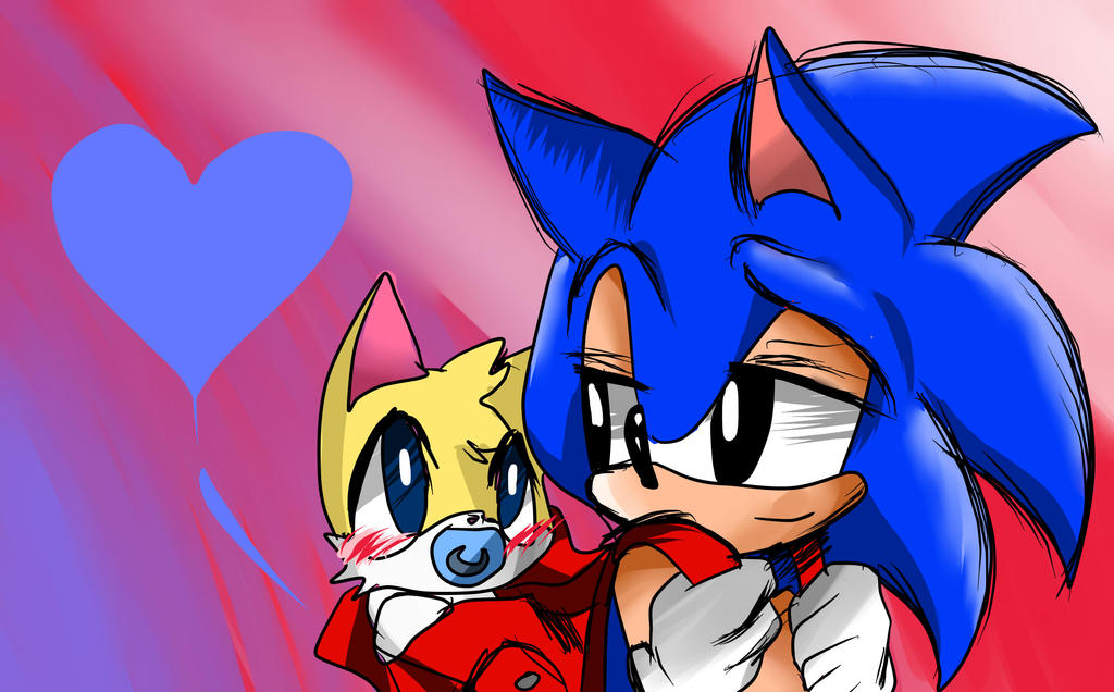 Kid Sonic and baby Tails by NyaOni on DeviantArt